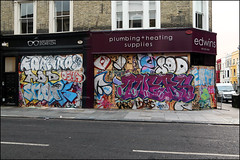 Various... (Alex Ellison) Tags: westlondon urban graffiti graff boobs nottinghillcarnival2016 osha add snot oners hmz cbm 1t sod uga fats bms vade throwup throwie