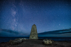Obelisk (Glen Parry Photography) Tags: night nightphotography nightsky longexposure glenparryphotography dorset sigma sigma1020mm nikon d7000 ocean sea seascapes