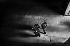 La lumire (krystinemoessner) Tags: bw bn sw nb monochrome porte lumire ombres people personne de haut krystine moessner taek