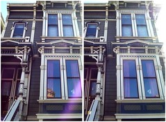 2731 California (San Francisco in stereo) Tags: crossview 3d stereophotograph victorianhouse