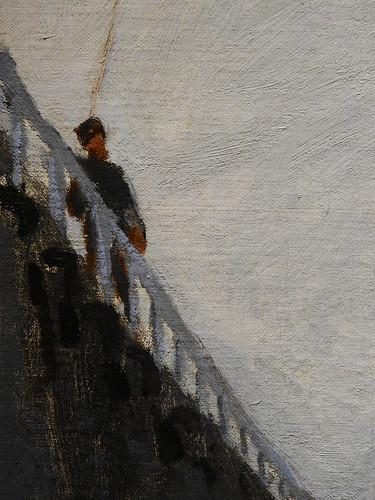 MONET Claude,1870 - L'Estacade de Trouville, Marée basse (Budapest) - Detail -mc