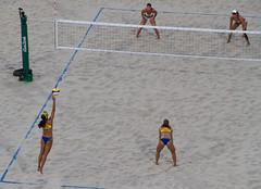 Serve (Richard Parmiter) Tags: rio2016 beachvolleyball olympicgames copacabana