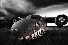 Abandoned (simonvaux1) Tags: plane abandoned dramatic sky clouds rain thunderstorm disused damaged vandalised broken sad nikon d800 full frame fx raw 2470 f28 simon vaux photography