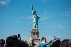 Statue selfie (patrick.kiniry) Tags: nikon d750 nikond750 statueofliberty nyc newyorkcity ellisisland fall bluesky