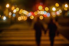 Dupont Circle (MikeSpeaks) Tags: jupiter350mmf15 washingtondc dupontcircle crosswalk couple love night city bokeh artsy blur
