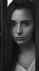 Evgeniya (ivankopchenov) Tags: girl portrait cute canon beautiful natural naturallight model mood melancholy sadness sorrow people face dark fineart soft shadow noir light eos young lonely hair warm sensual gentle cinematic outdoor blackandwhite bw grain monochrome depthoffield art black white eyes