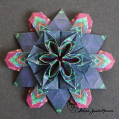Iimori Flower F (Day 6) (Yureiko) Tags: yureiko tessellation papierfalten papier origami paperfolding paper