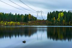 A powerful autumn (redfurwolf) Tags: autumn fall lake water powerlines wood tree outdoor longexposure sweden europe sormlandsleden skirsjon redfurwolf sonyalpha sony