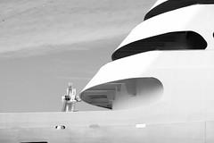 : Autumn Port (Colorful-wind) Tags: 2016 black blackandwhite blackwhite cruiseship fujifilm fukuoka harbor japan light lightandshadow minimal mojiko monochrome passengership port shadow ship xt1