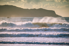 Surfs up at Umina Beach - usually barely a ripple! (Merrillie) Tags: uminabeach landscape nature australia nswcentralcoast newsouthwales sea earlymorning nsw beach centralcoastnsw umina morning outdoors waterscape sunrise waves water seascape