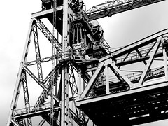 De Hef (pienw) Tags: bridge blackandwhite rotterdam railway dehef