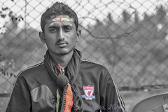 A traditional Liverpool supporter (Aiel) Tags: india liverpool football bangalore supporter pilgrim lfc ynwa youllneverwalkalone sabarimala