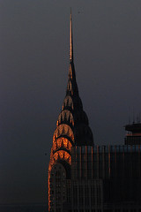 Chrysler Building (shumpei_sano_exp8) Tags: newyork reflection sunrise buildings dawn spire mornings chryslerbuilding urbanlandscape aplusphoto colourartaward flickrestrellas multimegashot