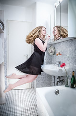 levitation 1st trial (sarah richert) Tags: party bathroom mirror levitation preparing