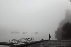 Silhouette (rogermarcel) Tags: bw mist fishing nb pêcheur waterscape rogermarcel