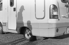 Auto camping (odeleapple) Tags: auto camp bw film silhouette zeiss nikon f100 carl planar 1450 neopan100acros zf2