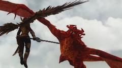 TESV_2014_11_02_17_55_17_354 (Champion1642) Tags: red ice scarlet hair dragon snake steel chief under plate dungeon lizard armor edge elder shield blade katana swords armour cameleon enb scrolls plated lothiriel skyrim tesv saarthal ivirniel