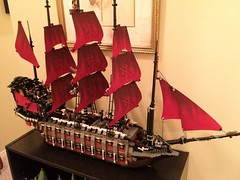 The new 32 gun LEGO pirate ship I just built. Manned by pirate zombies.