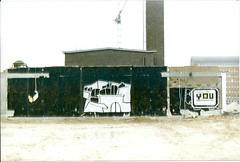 Bro is watching.. (DrGarageland) Tags: camera city wall buildings graffiti blackwhite mural you brother watching tele walls bigbro