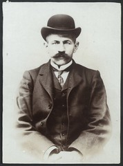 Ernest Frost (Tyne & Wear Archives & Museums) Tags: hat assault criminal crime bowlerhat mugshot wealthy theft policestation arrested stealing prisoner smuggling northshields imprisoned shipssteward