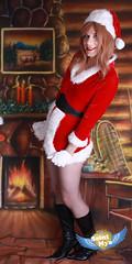 Santa's Sissy (aka: Panty Claus) (Mya St Clair) Tags: stockings costume cd cheesecake tgirl transgender sissy tranny transvestite trans crossdresser pinup trap ts tg strawberryblonde trannie transcendental tgal tgurl transmogrify saintmya