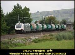 idn4230 (ribot85) Tags: railroad train tren trenes trains railways cantabria 253 bombardier renfe traxx torrelavega mercante mercancias tolvas viernoles tramesa 253007