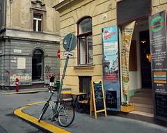 Budapest, Terzvros (elinor04 thanks for 25,000,000+ views!) Tags: door building caf architecture pub budapest bikes portal terzvros