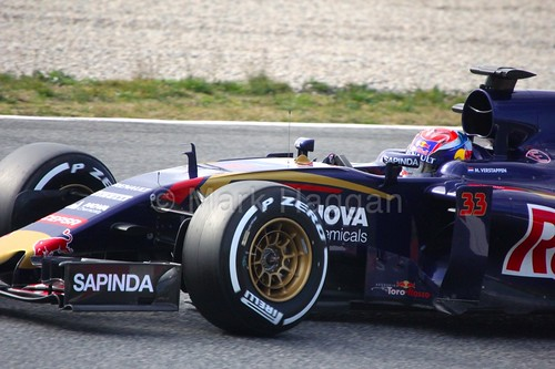 Max Verstappen in the Toro Rosso at Formula One Winter Testing 2015