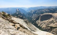 Half Dome and Yosemite Valley (Xuberant Noodle) Tags: california park ca cliff rock climb jump hike national valley yosemite dome half granite