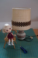 old table lamp - Homemade clip it up 1/5
