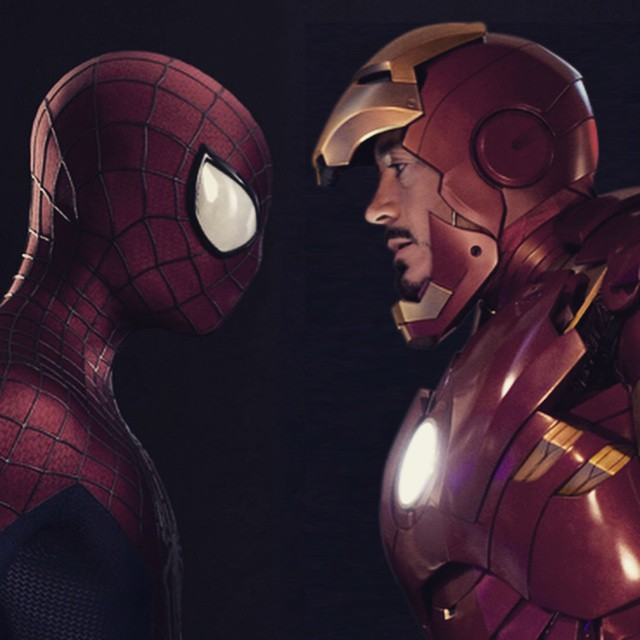 Spider-Man + Avengers = Awesomeness #avengers #Spiderman #ironman #disney #marvel #sony