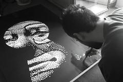 Working on PRIVATE FEELINGS canvas (.krayon) Tags: color art private artwork acrylic handmade clown workinprogress wip canvas pixel pixelart custom limited edition feelings sadclown blackisblack krayon customcanvas