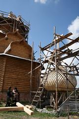 161. Освящение крестов и куполов на Всехсвятском скиту 2008 г
