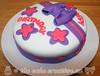 Purple Bow Birthday Cake