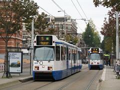2008-10-07 - Amsterdam, Van Baerlestraat (lausanne1000) Tags: holland netherlands amsterdam museum trolley north nederland tram cablecar van gogh tramway paysbas noordholland gvb hollande gemeentelijk vervoerbedrijf hollandeseptentrionale