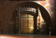 Liverpool Anglican Cathedral Entrance (David Chennell - DavidC.Photography) Tags: door liverpool sandstone cathedral entrance merseyside liverpoolanglicancathedral