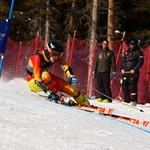 Brodie Seger (CAST/WMSC) 2nd at Nakiska Senior Nationals Super-G PHOTO CREDIT: Derek Trussler