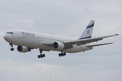 El Al Israel Airlines Boeing 767-3Q8(ER) 4X-EAK (Quentin Bonnet - AeroWorldPictures) Tags: bcn mwc 2015 lebl