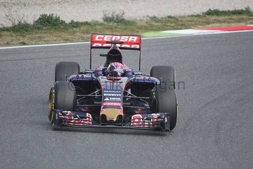Max Verstappen in his Toro Rosso in Formula One Winter Testing 2015