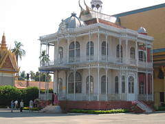 French Colonial Building in Phnom Penh Royal Palace Complex