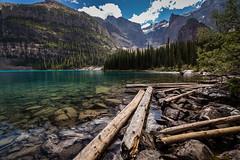 moraine lake, Banff National Park (wein2040) Tags: wood blue sky lake glacier alberta rockymountains kanada morainelake canon6d