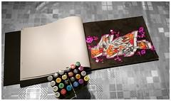BLACKBOOK 2015 (adel_one2wh) Tags: colors illustration paper graffiti handmade drawing letters style sketchbook marker blackbook graffitiart