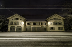 F E U E R W E H R (m_haefeli) Tags: schnee winter snow station night fire schweiz switzerland nikon suisse angle nacht swiss wide wideangle nikkor feuerwehr feuerwache department firedepartment gebude winterthur weitwinkel 7000 7k betriebsgebude d7000 nikond7000
