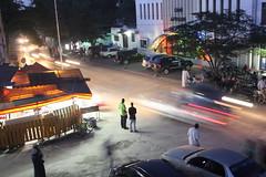 Zanzibar City (pelzernadine) Tags: africa street light people cars tanzania busy zanzibar sansibar tansania