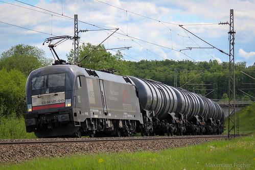MRCE/TXLogistik BR 182 510-8 / ES64U2-010, Güterzug/Cargo/Freight train | [GER] Fünfstetten