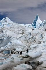 Perito Moreno Climbing (robertdownie) Tags: blue winter sky cliff patagonia mountain snow ice argentina field america south glacier southern climbing perito moreno