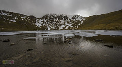 The summit and ridges (dh9photography) Tags: mountains red tarn helvellyn lake district snow capped striding edge ice