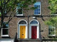 The Irish Painted Door Thing (mikecogh) Tags: dublin doors painted front double custom terracedhouses