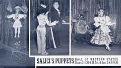 Salici Puppets (jericl cat) Tags: show sanfrancisco history golden hall gate treasureisland expo puppet miracle stage postcard fair dancer ephemera souvenir entertainment international exposition puppets worlds performer 1939 marionettes marionette westernstates salici salicis