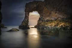 Pacific coast hidden archway (e.gibsonphotography) Tags: california sunset rocky coast coastal pacific ocean water rocks arches dramatic archway west